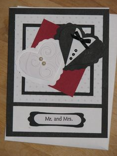 handmade wedding hearts card