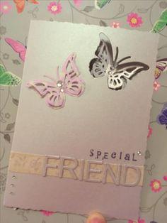 Special friend birthday greeting card #handmade #papercraft #sizzix #diecutting #butterflies #sparkles