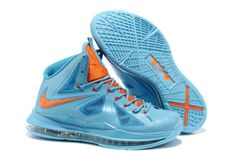 2013 Outlet Nike Zoom Lebron 10 X Mens Shoes To Buy Blue Orange