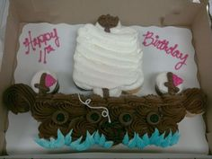 Pirate Ship Cupcake Cake  on Cake Central