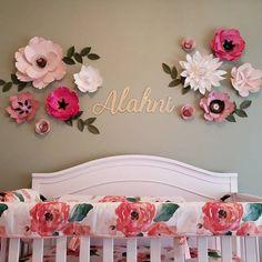 Darlene Lambert added a photo of their purchase Yellow Nursery, Floral Nursery, Girl Nursery, Girl Room, Nursery Room, Baby Girl Names Unique, Cute Baby Names, Nursery Wall Decor, Baby Room Decor