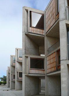 Louis Khan / Salk Institute for Biological Studies offices / San Diego Louis Kahn, Library Architecture, Facade Architecture, Stay Classy San Diego, Concrete Building, Built Environment, Shop Interior Design, Brutalist, Urban Design