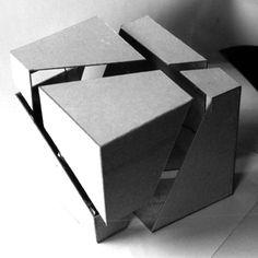 würfel1 Concept Models Architecture, Architecture Model Making, Conceptual Architecture, Architecture Portfolio, Architecture Design, Architectural Sculpture, Cube Design, Arch Model, Parametric Design