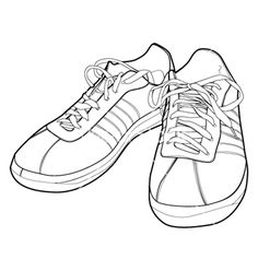 Sport shoes vector image on VectorStock Photographer Resume, Kids Sports Party, Shoes Vector, Bullet Journal Notes, Vans Shoes, Shoes Sport, Marker Art, High Top Sneakers, Drawing Clothes