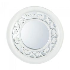 Accent Plus White Ivy Wall Mirror