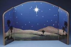 Roman Fontanini Star of Bethlehem Nativity Background Scene Nativity Stable, Christmas Nativity Scene, Nativity Crafts, Childrens Christmas, Christmas Holidays, Christmas Decorations, Nativity House, Xmas, Nativity Scenes