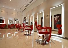 Each area of the salon though must have a design that's conducive to its ob Salon Interior Design, Salon Design, Barber Shop Decor, Barbershop Design, Healthy Preschool Snacks, Meal Planning Printable, Salon Chairs, Pink Bedding, Healthy Living Tips