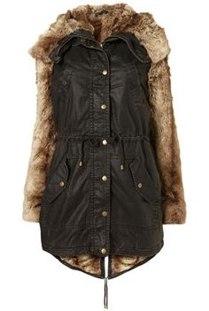 Faux Fur Parka - StyleSays
