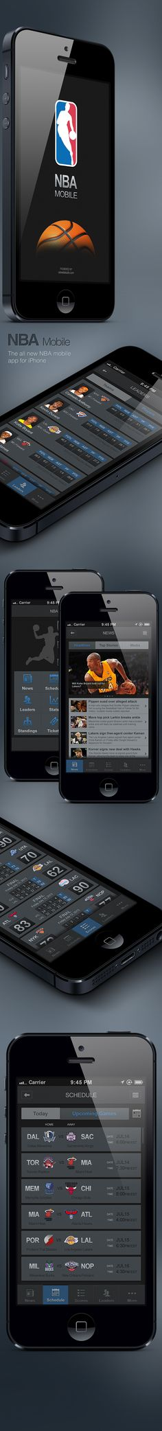 NBA Mobile App for iPhone on Behance