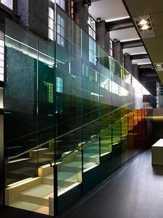 Credit: Peter Saville Studio Kvadrat, London, Showroom, Adjaye Associates 2009 'My intended collaboration with architect David Adjaye on this interior was pre-empted by his tribute in glass to my use of colour on Blue Monday'