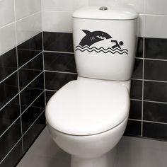 Stickers muraux pour salle de bain sticker mural deux for Pochoir mural wc