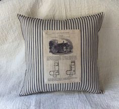 Architectural Print pillow with Antique by FranklyMyDearToo, $38.00