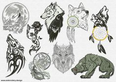 This pack of embroidery designs Tribal wolves was digitized by EmbroSoft Studio for site www.embroidery.design.    We optimized all connectors and found optimum density for embroidery on different fabrics.    To get the best possible quality, we have tested the design, and fixed all errors.    There are high quality professionally digitized design, multiple formats are available. Our designs are suitable for all embroidery machines domestic & commercial, and we give you a choice of…