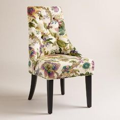 One of my favorite discoveries at WorldMarket.com: Grape Garrison Floral Lydia Dining Chairs, Set of 2