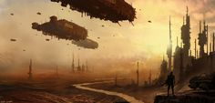 ships over desert by 5ofnovember.deviantart.com on @deviantART