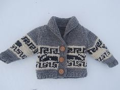 Ravelry: Northern Whale Cowichan Sweater- Toddler& Cardigan by Kristen Cooper Baby Boy Knitting Patterns, Knitting For Kids, Baby Patterns, Free Knitting, Cowichan Sweater, Sweater Cardigan, Toddler Cardigan, Pull Bebe, Knit Baby Sweaters