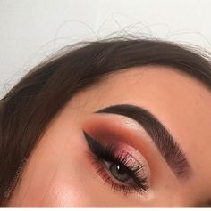 this is a really pretty eye look; i need new orangey reds cause i literally don't have any