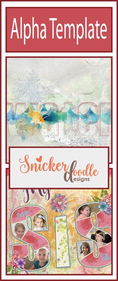 Fun new Alpha Template Collection now available by Snickerdoodle Designs.On Sale for limited time!
