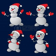 Snowman. Vector illustration. photo