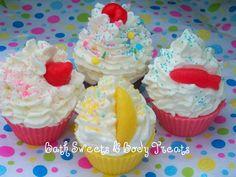 Cupcake Wax Tarts   www.bathsweetsandbodytreats.com