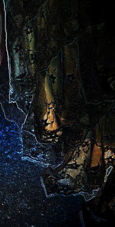 Glowing golden fabric in the darkness. Texture Words, Multiple Exposure, Black Art, Fine Art Photography, Darkness, Framed Prints, Rainbow, Wall Art, Artist