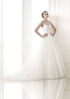 Find Wedding Dresses by Pronovias thanks to our search engine. Discover the latest tips and trends in Wedding Dresses by Pronovias. Pronovias Wedding Dress, Stunning Wedding Dresses, Bridal Style, One Shoulder Wedding Dress, Wedding Inspiration, Beautiful, Collection, Fashion, Sleeved Wedding Dresses