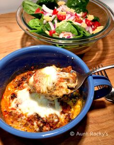Aunt Rocky's Microwave Lasagna in a Mug (LCHF)