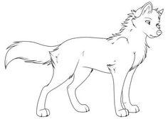 wolf ausmalbild 05
