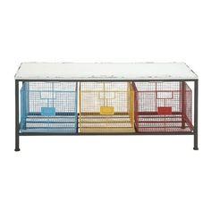 Trent Austin Design Lindsay Metal and Wood Storage Kitchen Bench