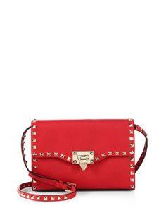 Valentino - Rockstud Medium Leather Shoulder Bag