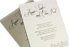 DIY wedding invitations with calligraphy look