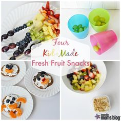 In a snack rut with your kids? Here are four kid-made fresh fruit snacks the whole family will enjoy!