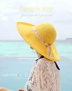 Free Crochet Pattern - Beach Hat