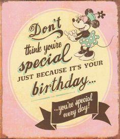 Minnie Mouse Vintage Birthday Card