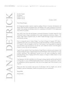 Apparel Design Cover Letter     Brooklyn Resume Studio