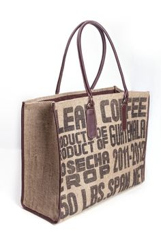 Recycled coffee sacks handbag. Only at www.themayanstore.com