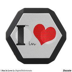I Am In Love Black Bluetooth Speaker
