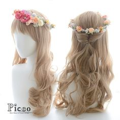 "Gallery 101-1  Order Made Works Flower Crown Style Hair Accessory  for SOTSUGYO-SHIKI  By ""Picco"" http://picco-flower.com  #華奢な #小花 の#花冠 #髪飾り#卒業式#結婚式#ブライダル #ウェディングにも  #flowercrown #custommade#original#hair#hairdo#dress#antique#bridal#party#event#headdress#花嫁#ヘアアレンジ#オリジナル#ピッコ #picco#ヘアアクセサリー #パーティー #ドレス #ハレの日 #101"
