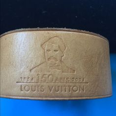 LOUIS VUITTON LIMITED CUFF Calling all LOUIS VUITTON TRUE COLLECTORS!!!!! This leather cuff bracelet was given at the celebration of 150 years of LV in New York 2004. This item was given to me by a good friend who happened to work in public relations and helped put together the party.  It's adjustable and as u see in pics stamped. Again it is a LIMITED ITEM !!!! LV LOVERS❤️❤️❤️❤️ Louis Vuitton Jewelry Bracelets