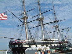 USS Constellation at USNA Annapolis.  Last US warship built exclusively powered by sail.
