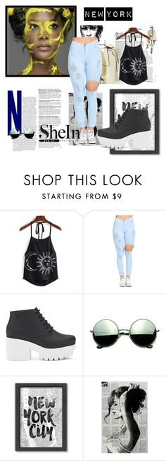 """""""New York City"""" by katherine-parnell ❤ liked on Polyvore featuring Melissa, Revo and Americanflat"""