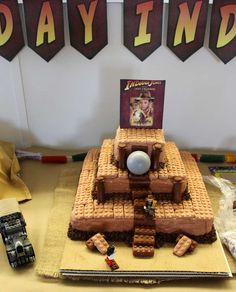 Corbin's Indiana Jones Party by Geek-Prints | CatchMyParty.com Indiana Jones Cake, Indiana Jones Birthday Party, Action Movies, No Bake Cake, Cake Ideas, Birthday Parties, Geek Stuff, Party Ideas, Cakes