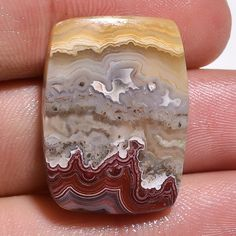 16.80Cts.100% NATURAL DESIGNER CRAZY LACE AGATE CUSHION CABOCHON LOOSE GEMSTONES #handmade