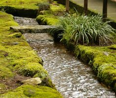 Silver stream in Erin-ji (恵林寺). Erin-ji is a quiet Zen temple in Yamanashi - Click to see the eBook! http://www.japanesegardens.jp/gardens/famous/000022.php | Real Japanese Gardens