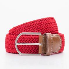 Pleciony pasek męski w kolorze czerwonym – kolekcja Beltology
