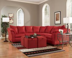 Darcy Salsa Microfiber Red Sectional By Ashley Furniture Reviews Living Room