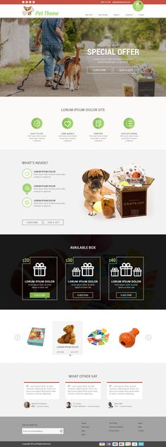 #Pets theme Design by TW #Designers #inspiration