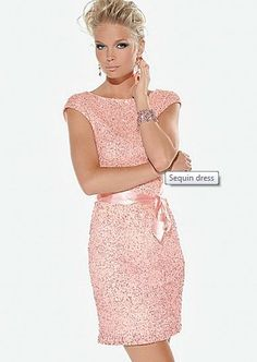 Pink Sequin Dress- too pale but pretty design if it were BRIGHTER