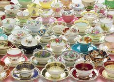 More Teacups is a 1000 piece jigsaw puzzle from Cobble Hill. Puzzle measures x when complete. It features an assortment of fine china teacups. Tea Cup Saucer, Tea Cups, Coffee Cups, Puzzle Box, Puzzle 1000, Tea Gifts, Puzzles For Kids, China Patterns, Puzzle Pieces