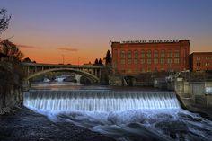 Post Street Bridge, Spokane Falls, Washington Water Power